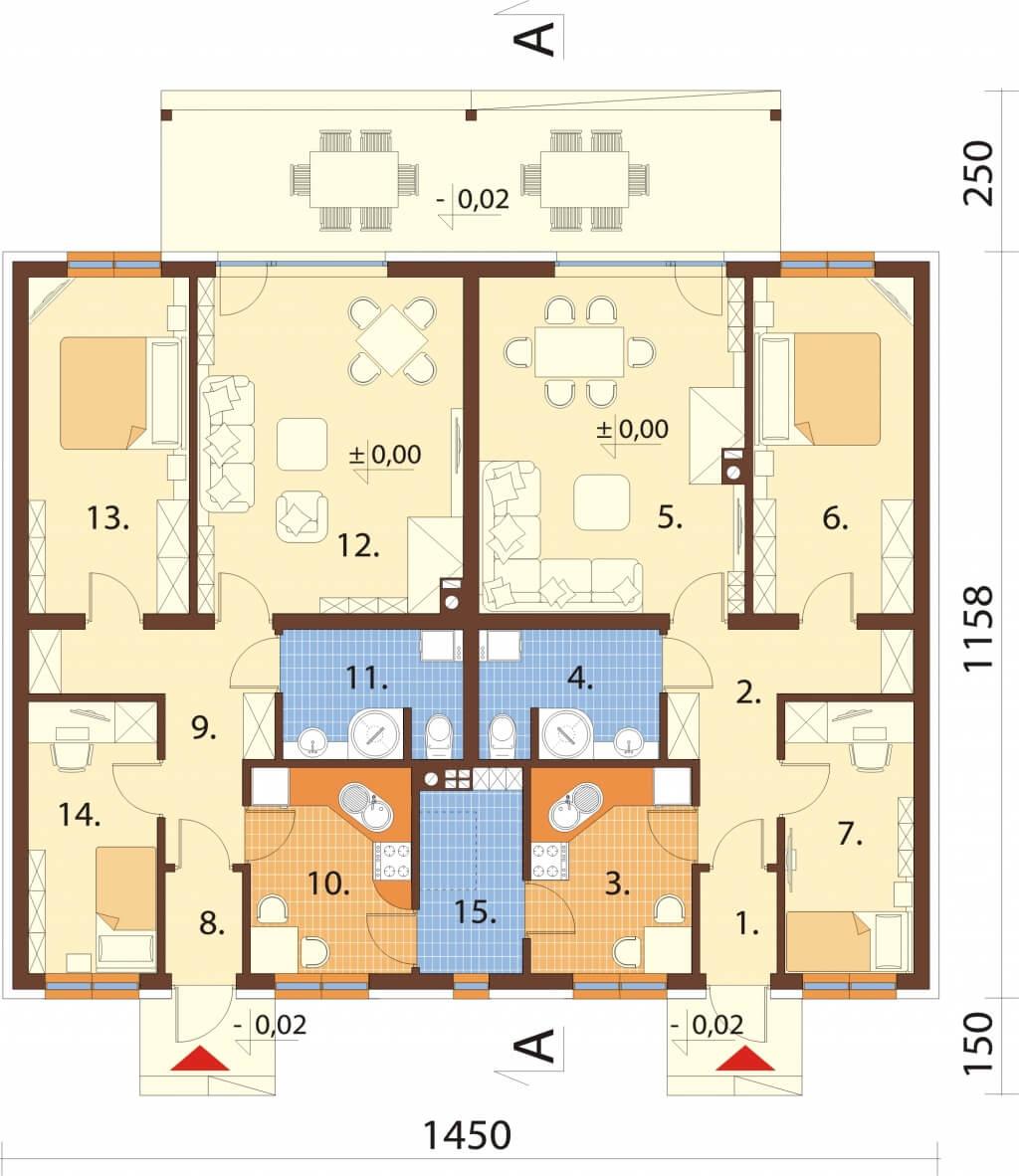 Projekt domu DM-6639 - rzut