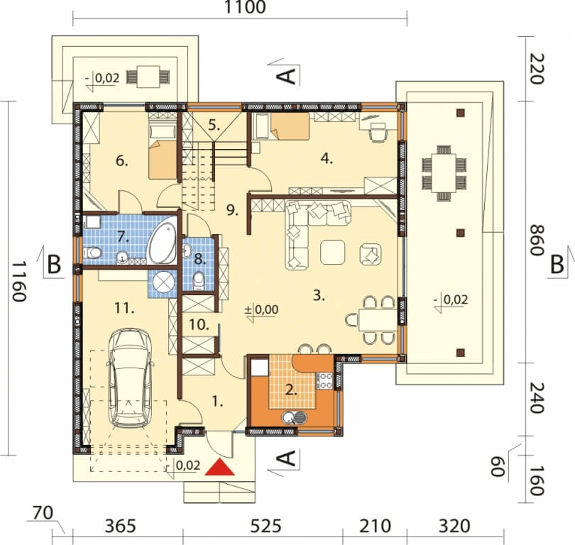 Projekt domu L-6629 - rzut