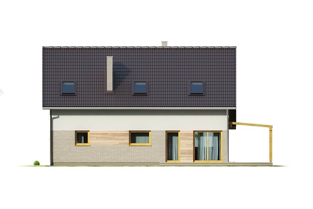 Projekt domu L-6631 - elewacja