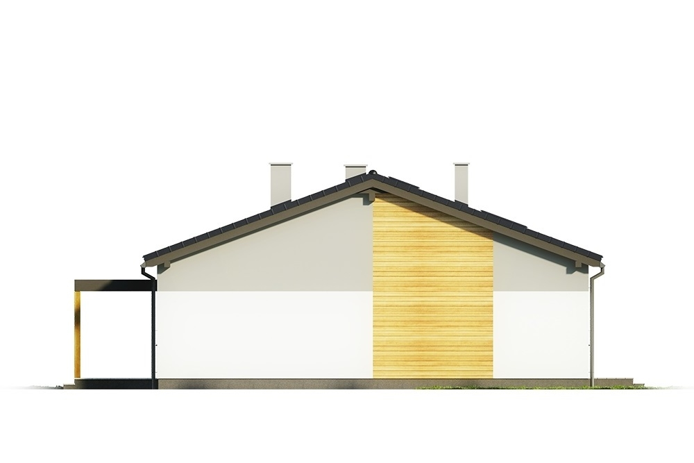 Projekt domu L-6639 - elewacja