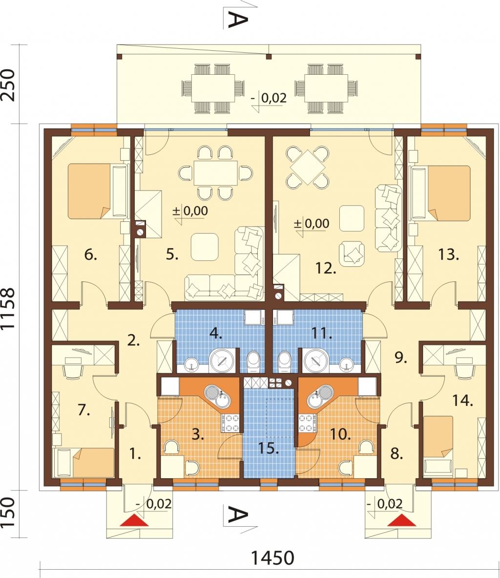 Projekt domu L-6639 - rzut