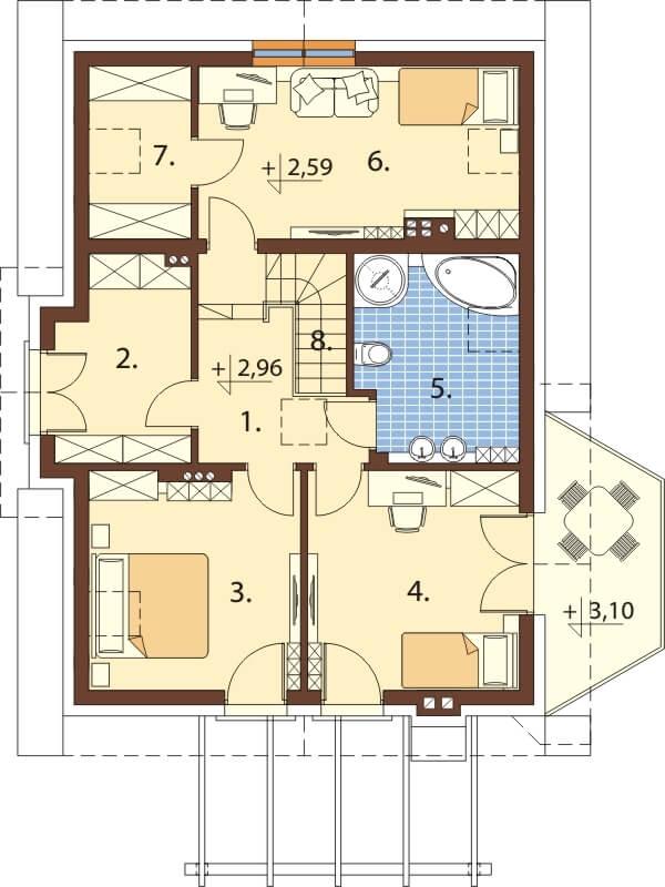 Projekt domu L-6618 - rzut