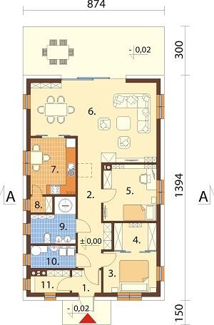 Projekt domu L-6636 - rzut