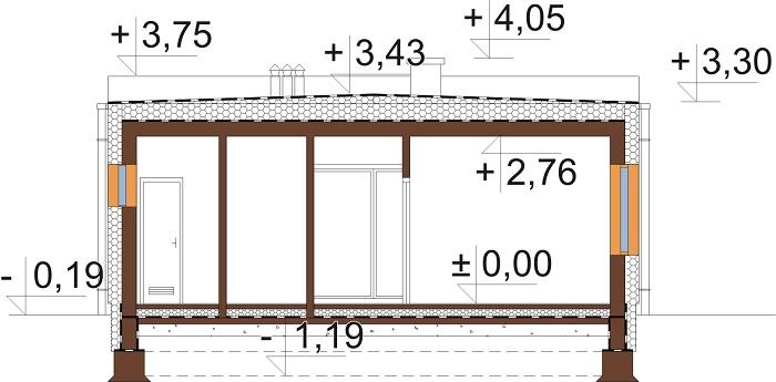 Projekt domu L-6636 - przekrój