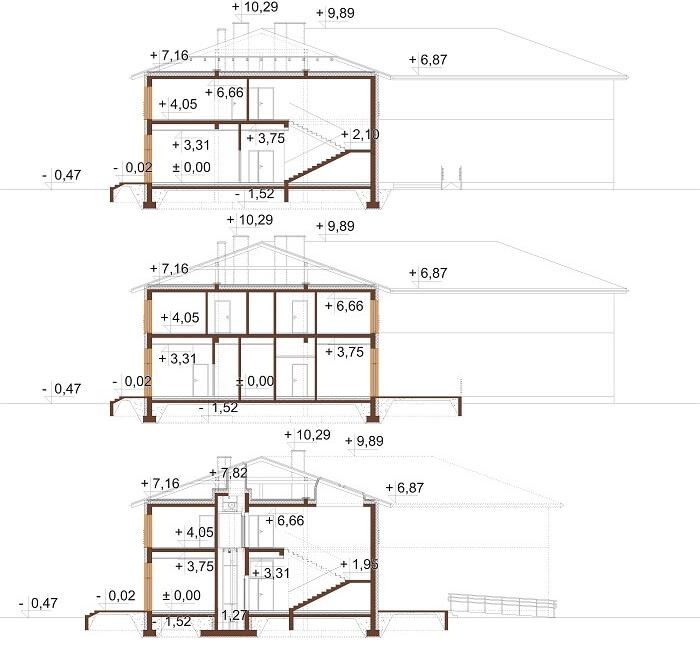 Projekt LK-112 - przekrój