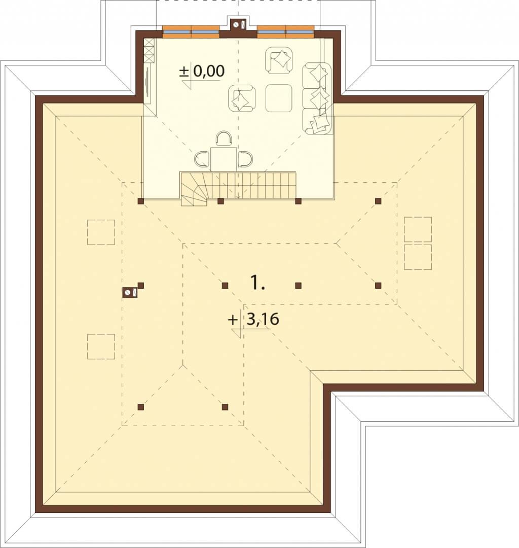 Projekt domu DM-6628 - rzut