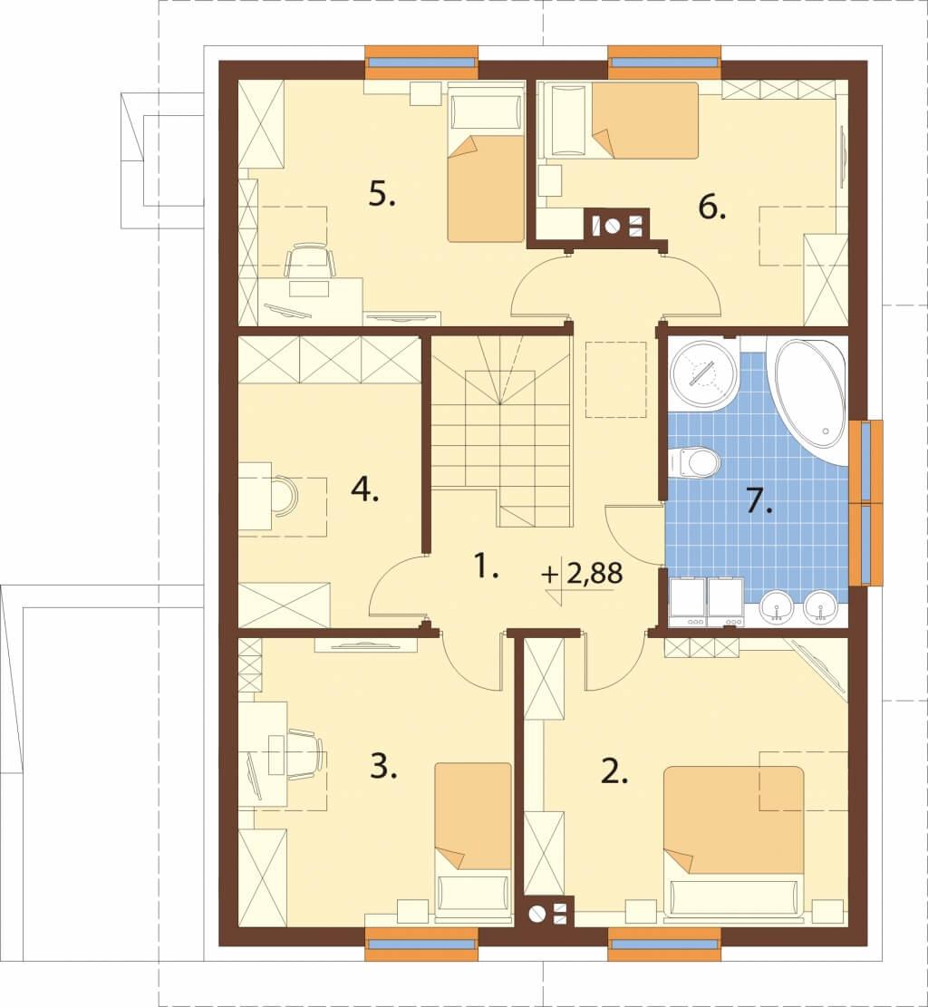Projekt domu DM-6630 - rzut