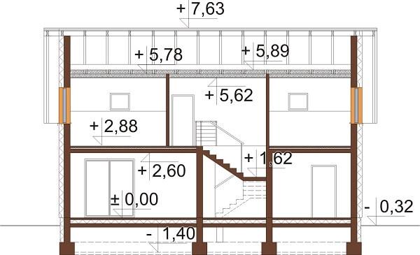 Projekt domu DM-6630 - przekrój