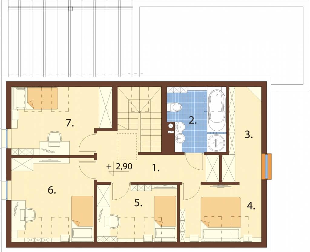 Projekt domu DM-6640 - rzut