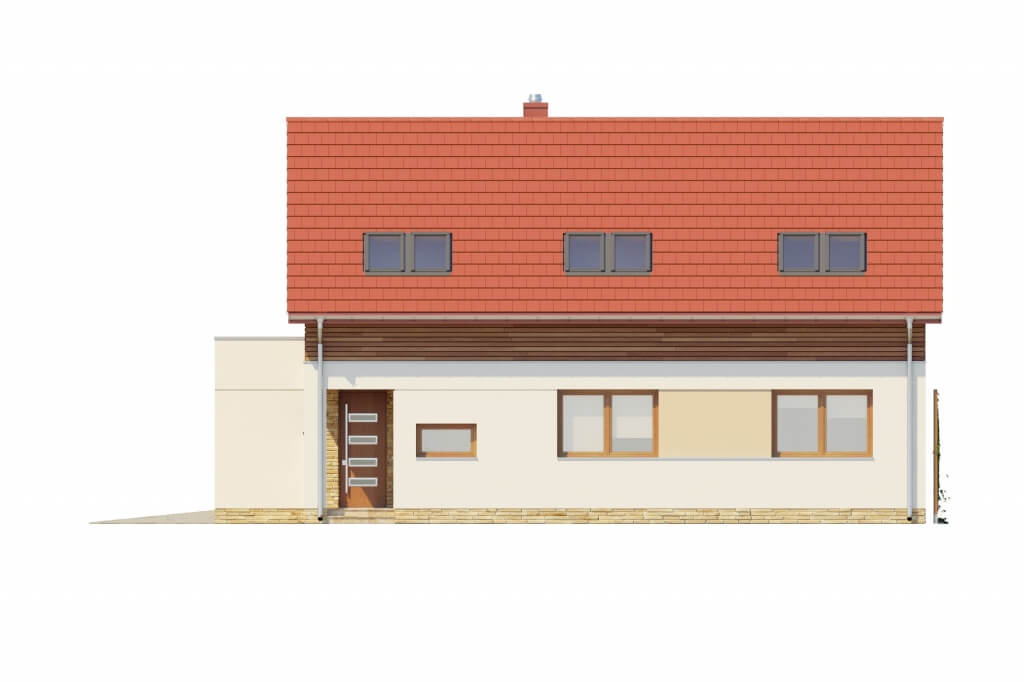 Projekt domu L-6640 - elewacja