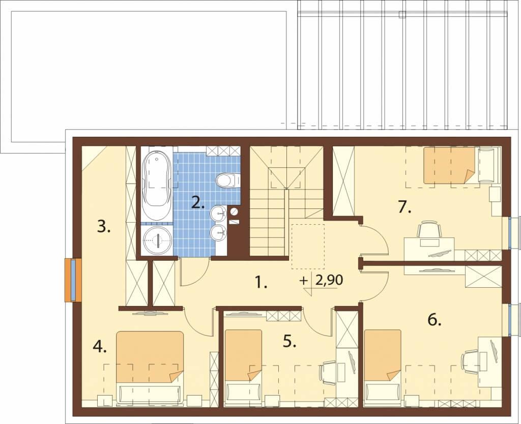 Projekt domu L-6640 - rzut