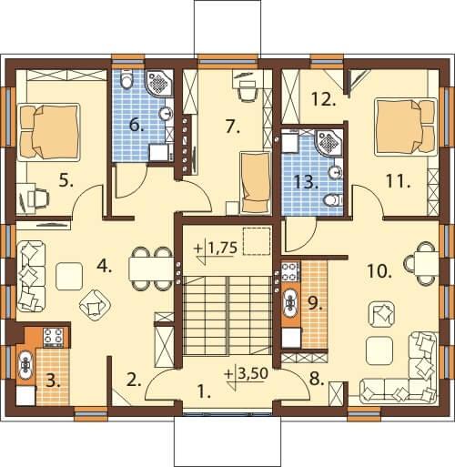 Projekt domu L-6589 - rzut