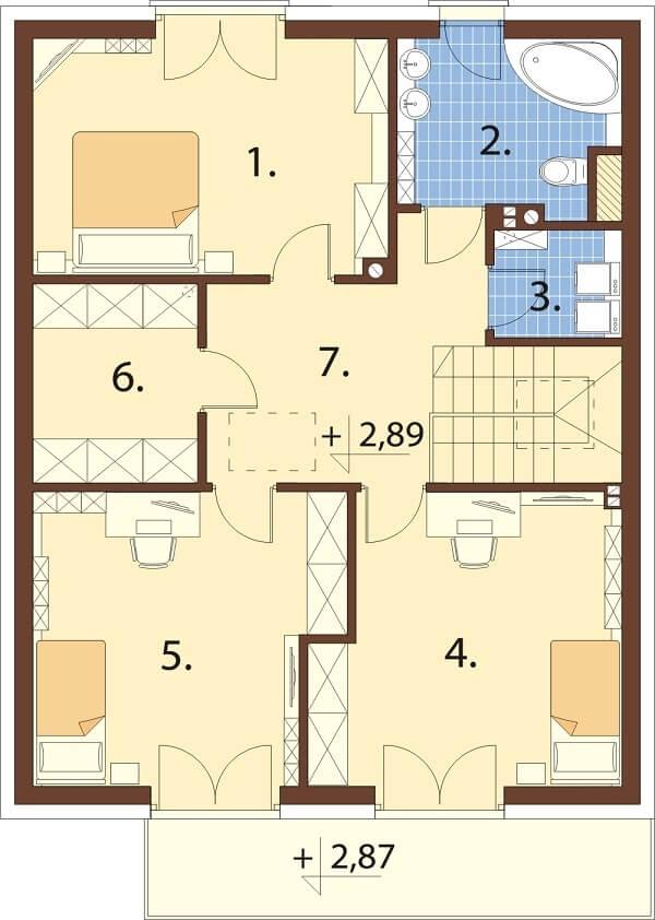 Projekt domu DM-6623 - rzut
