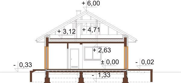 Projekt domu DM-6625 - przekrój