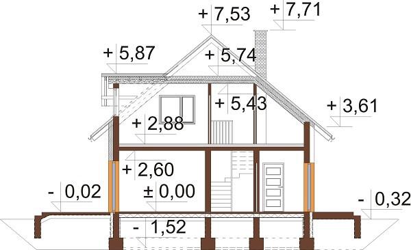 Projekt domu DM-6642 - przekrój