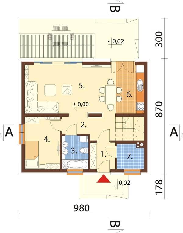 Projekt domu DM-6642 - rzut