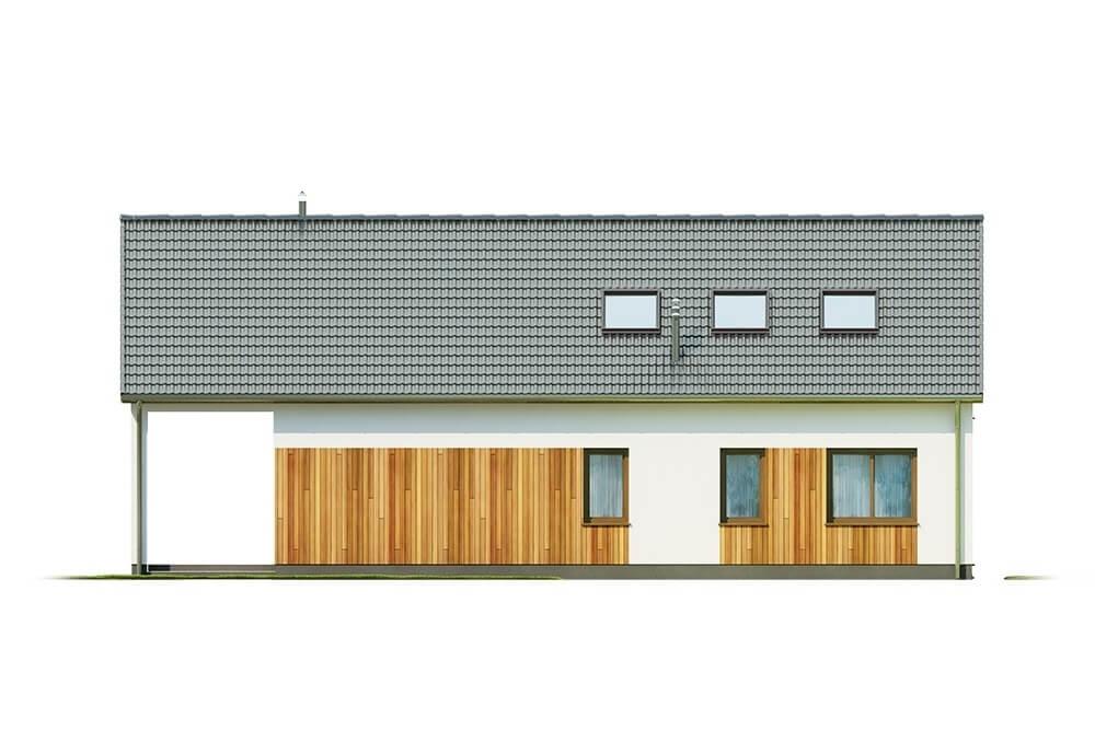 Projekt domu L-6638 - elewacja
