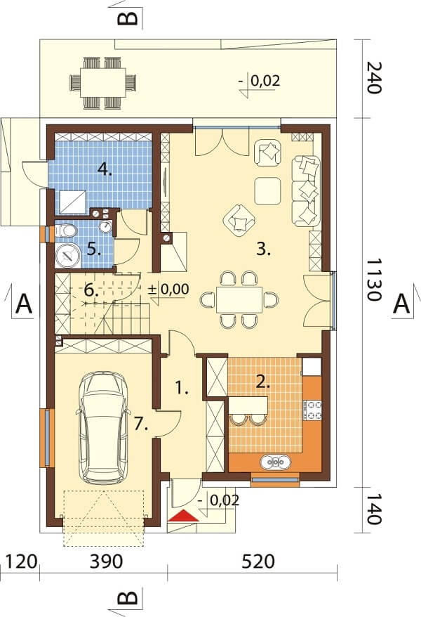 Projekt domu L-6623 - rzut
