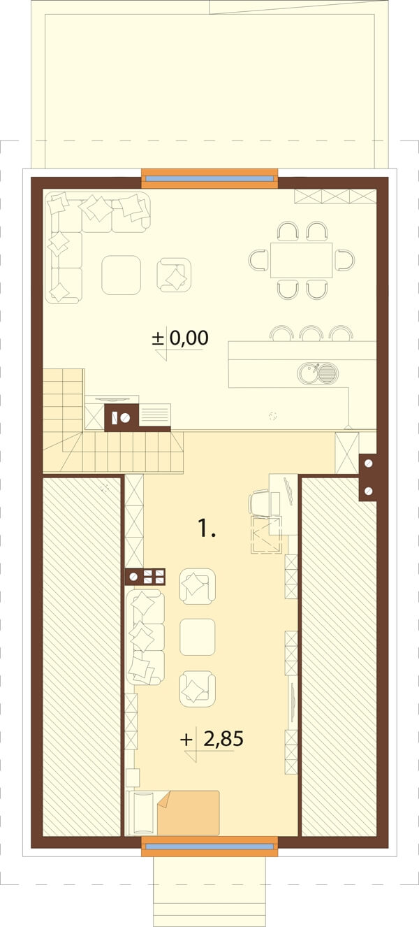 Projekt domu DM-6596 B - rzut