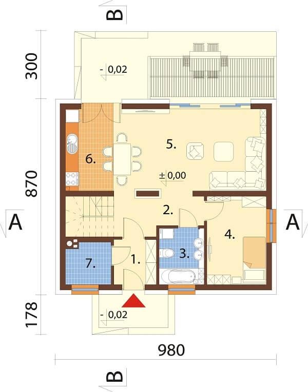 Projekt domu L-6642 - rzut