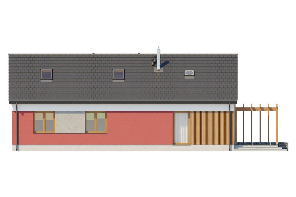 Projekt domu L-6645 - elewacja