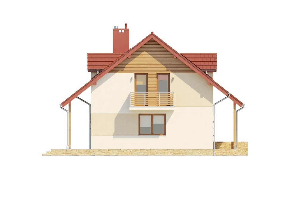 Projekt domu DM-6095B - elewacja