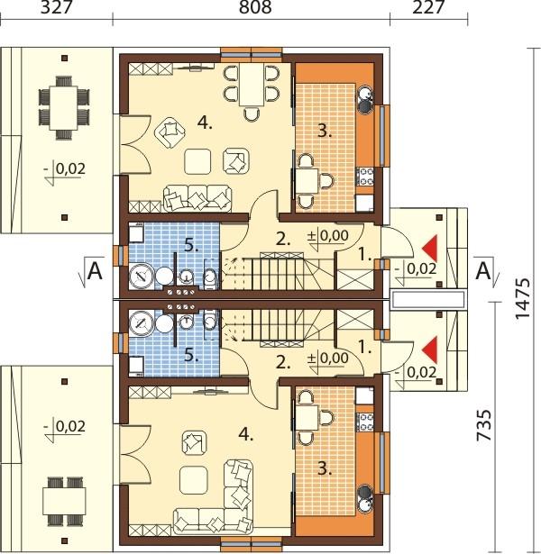Projekt domu DM-6095B - rzut