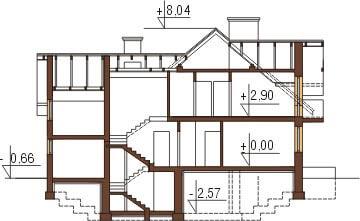 Projekt domu DM-6236 - przekrój
