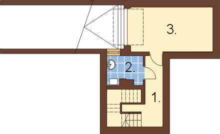 Projekt domu DM-6236 - rzut