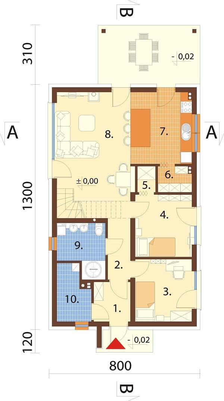 Projekt domu L-6649 - rzut