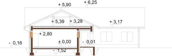 Projekt domu L-6641 - przekrój