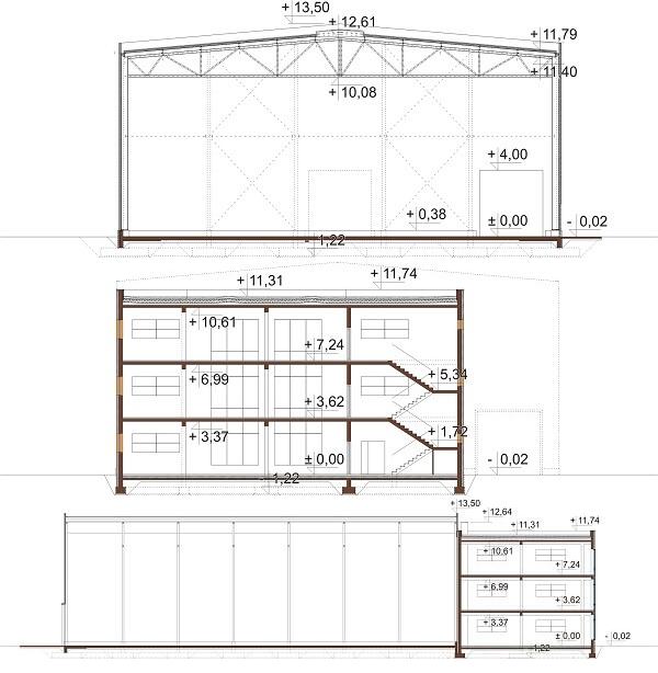 Projekt LK-113 - przekrój