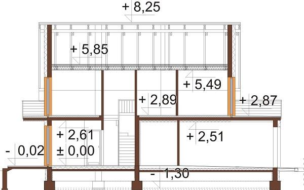 Projekt domu DM-6663 - przekrój