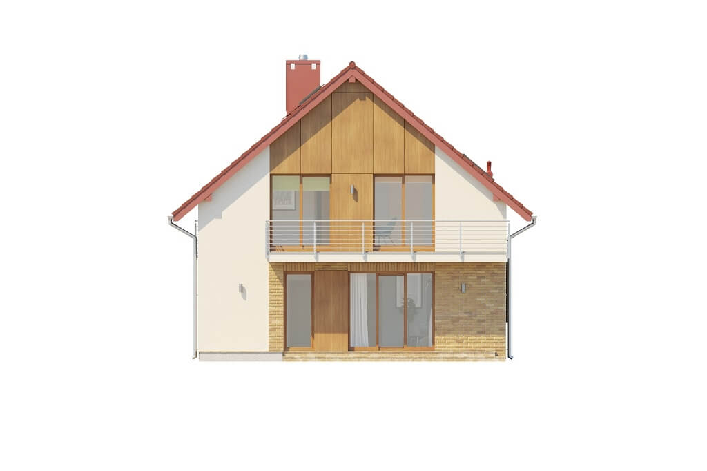Projekt domu DM-6663 - elewacja
