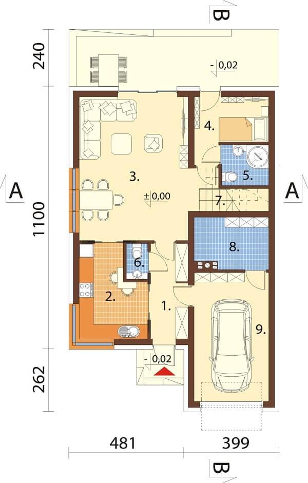 Projekt domu DM-6663 - rzut