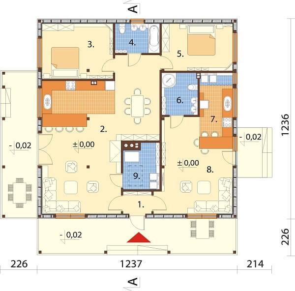 Projekt domu DM-6617 - rzut