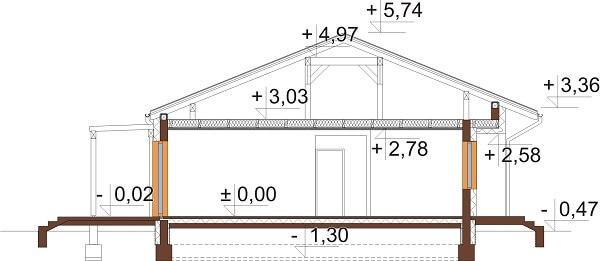 Projekt domu DM-6651 - przekrój