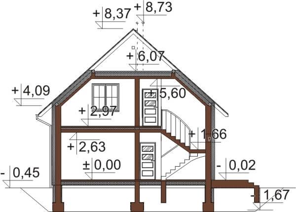 Projekt domu DM-6653 - przekrój