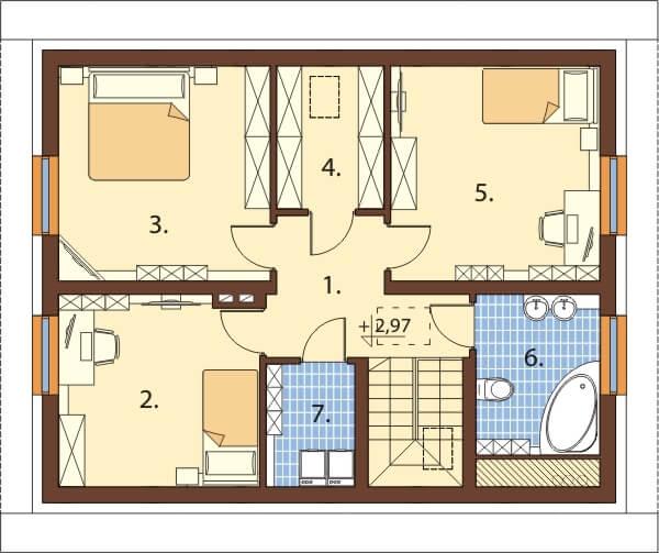 Projekt domu DM-6653 - rzut