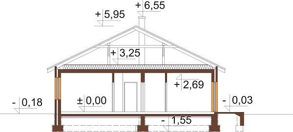 Projekt domu DM-6661 - przekrój