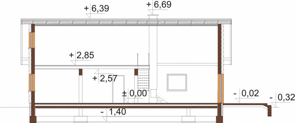 Projekt domu DM-6662 - przekrój