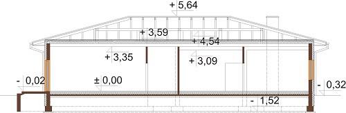 Projekt LK-102 - przekrój