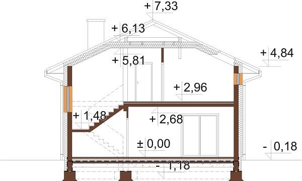 Projekt domu DM-6647 - przekrój