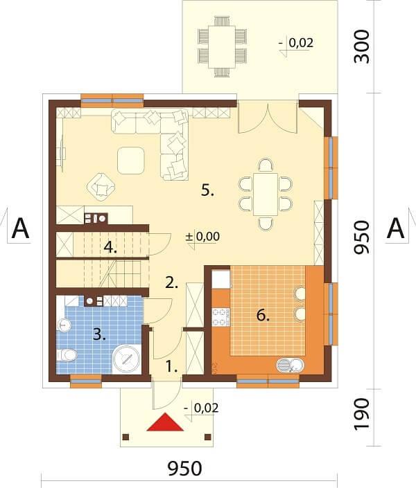 Projekt domu DM-6647 - rzut