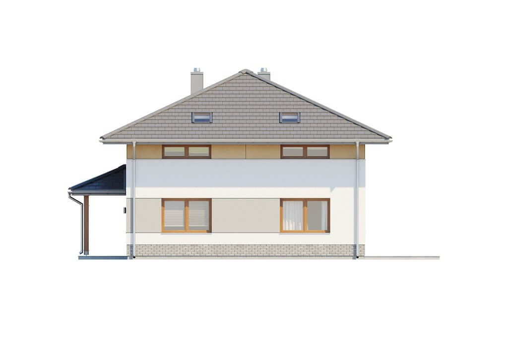 Projekt domu DM-6647 - elewacja