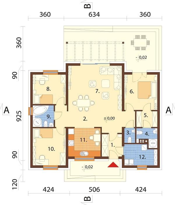 Projekt domu L-6651 - rzut