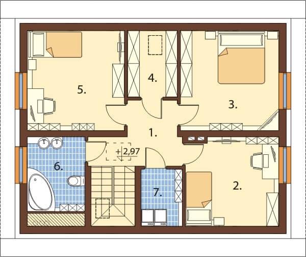 Projekt domu L-6653 - rzut