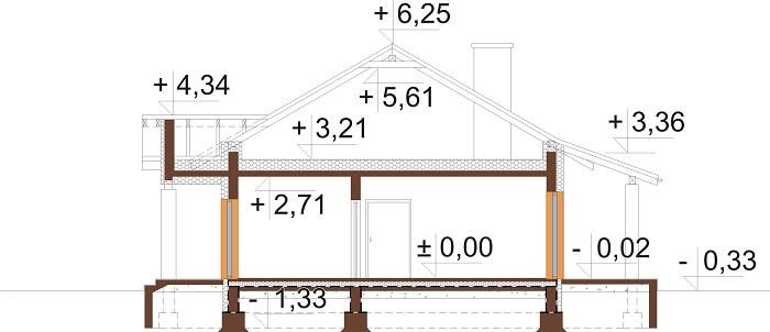 Projekt domu DM-6657 - przekrój
