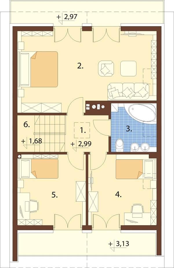 Projekt domu DM-6656 - rzut