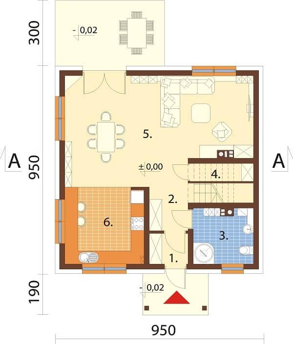 Projekt domu L-6647 - rzut
